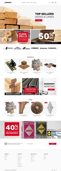 Hernesia - Building Materials Responsive Magento Theme #62250