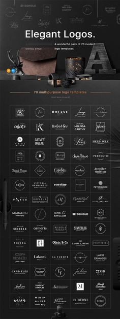 70 Elegant Logos (Extended License) Best Picture For Logo Design fonts For Your Taste You are lookin Logo Inspiration, Kreis Logo Design, Logo Branding, Branding Design, 7 Logo, Corporate Branding, Business Branding, Graphisches Design, Vector Design