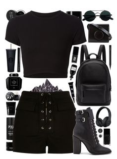 """Untitled #528"" by cherryprincessannie ❤ liked on Polyvore featuring Ralph Lauren, PB 0110, Grown Alchemist, JINsoon, Getting Back To Square One, Eos, River Island, Schutz, Lemaire and MAC Cosmetics"