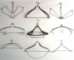 I would love to find a bunch of vintage hangers to hang as a border around my laundry room!