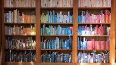 Rainbow bookshelving