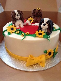 A CAVALIER KING CHARLES BIRTHDAY CAKE King Charles Dog, King Charles Spaniel, Cavalier King Charles, Artist Cake, Single Tier Cake, Dog Birthday, Birthday Cake, Animal Cakes, Dog Cakes