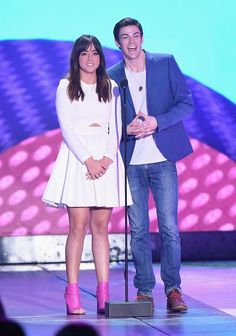 Chloe Bennet and Grant Gustin speak onstage during #KCA |