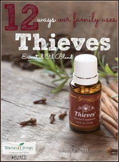A dozen ways to use Thieves Essential Oil Blend | AmyLovesIt.com #oilyfamilies #essentialoils