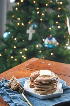 Protein Packed Gingerbread Pancakes