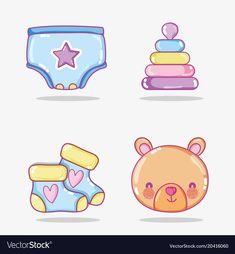 Baby cartoons collection vector image on VectorStock Baby Mehndi Design, New Mehndi Designs, Baby Images, Baby Pictures, Baby Clip Art, Baby Drawing, Scrapbook Designs, Baby Cartoon, Instagram Story Template
