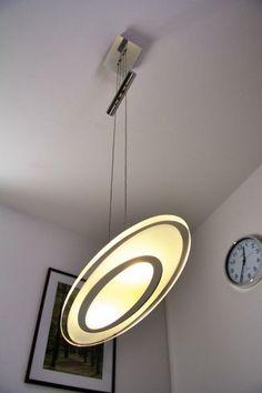 Hängeleuchte Design LED Pendelleuchte Chrom Pendellampe Glas Hängelampe Lampe in…