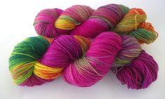 Handgefärbte Sockenwolle: Sommergarten von lakeside-wolle auf DaWanda.com