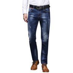 s Acid Wash Jeans (56 BAM) ❤ liked on Polyvore featuring men's fashion, men's clothing, men's jeans, mens blue jeans, mens slim fit jeans, men's regular fit jeans, mens flap pocket jeans and mens distressed jeans