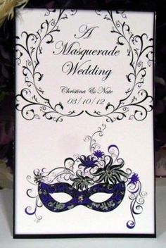 Masquerade Wedding Invitations                              …
