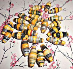 25 St.  Gelben Perlen von Nerikunst auf DaWanda.com