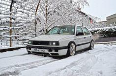 White Mk3 Golf