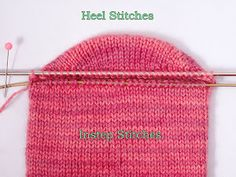 Short-row heel w/o W&T and NO HOLES! Great tutorial. I've never seen this technique before. I'm definitely going to try.