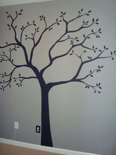 Hand-painted tree for wall