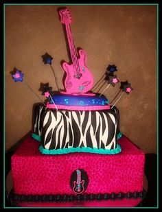 Rock Star Birthday cake!