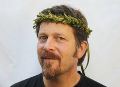 Green Leaf Crown Toga Costume Greek God Green Hair Laurel