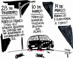 Charge de Latuff sobre o assassinato da vereadora Marielle Franco