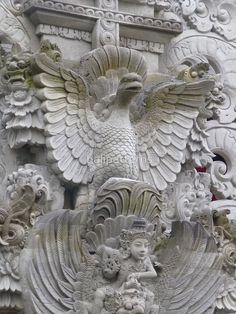 by balipatterns. Intricate Stone Carved Pattern in Balinese Temple Decoration 03
