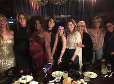 "Girl's Night from Caitlyn Jenner's Best Pics  ""Such a fun dinner in NYC w/ this powerful group of trans women. They are all so beautiful. @GeenaRocero @candiscayne,"" the brunette beauty captioned this photo."