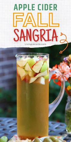 Apple Cider Alcohol, Apple Cider Cocktail, Apple Cider Sangria, Cider Cocktails, Drinks Alcohol Recipes, Sangria Recipes, Fall Drinks Alcohol, Fall Sangria, Fall Recipes