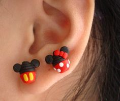 Disney Cupcake Earring Minnie mouse Mickey by SimplyEncharming, $13.00