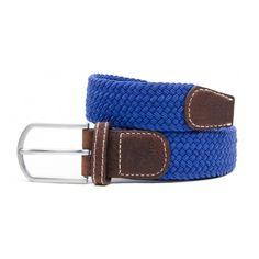 Ceinture bleu roi femme élastique finition cuir en livraison 24/48H,  livraison gratuite dès deux ceintures achetées.