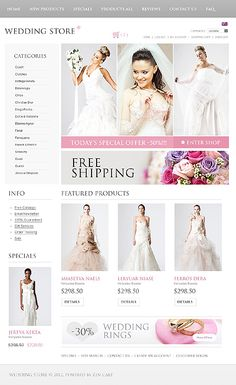 Wedding inspirations at the Coffee Break? Browse for more Wedding and Zen Cart templates! // Regular price: $140 // Unique price: $2500 // Sources available: .PSD, .PHP // #Wedding #ZenCart #templates