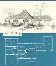 1945 Brittany - New Era Houses - Brown-Blodgett Co. - Post WWII French Provincial
