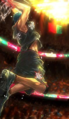 Kuroko No Basket, Aomine Kuroko, Kagami Taiga, Slam Dunk Anime, Basketball Background, Cool Anime Pictures, Basketball Anime, Basket Sport, Black Anime Characters
