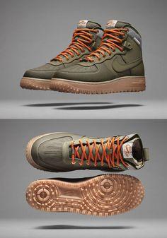 Nike Air Force 1 Duckboot. Utilitarian but yet stylish. I like. Nike Outfits 0c70486de