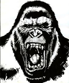 angry gorilla - Google Search