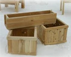 Resultado de imagen para HANGING wood flower pots exterior