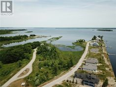 Aerial view of Dockside in Port McNichol. Victoria Harbour, Aerial View, Country Roads