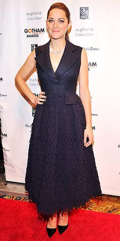 Marion Cotillard in Dior http://www.peoplestylewatch.com/people/stylewatch/gallery/0,,20650963,00.html#