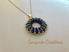 Bead Tutorial - Component Tutorial with Rocailles Beads and Spring Onions - Tuto . Seed Bead Jewelry, Bead Jewellery, Pendant Jewelry, Beaded Rings, Beaded Bracelets, Necklaces, Beaded Jewelry Patterns, Diy Schmuck, Bijoux Diy