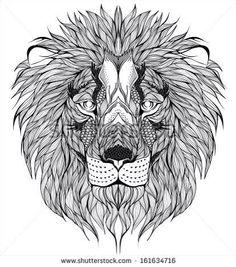 Intricate lion head piece