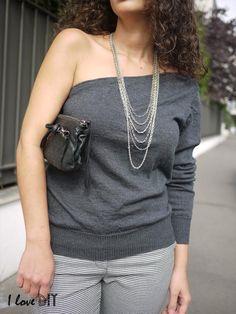 asymmetrical sweater by I LOVE DIY