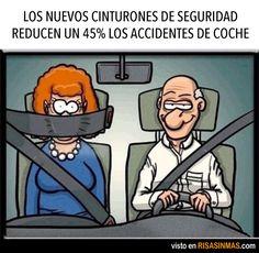 Los nuevos cinturones de seguridad reducen un 45% los accidentes de coche.