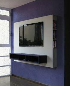mueble panel lcd / tv / led - modular - mesa de tv Diy Interior Furniture, Tv Unit Furniture, Panel Lcd, Led Panel, Lcd Panel Design, Lcd Units, Tv Wall Cabinets, Modern Tv Wall Units, Tv Cabinet Design
