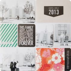 Project Life Pages. www.simpleasthatblog.com #projectlife