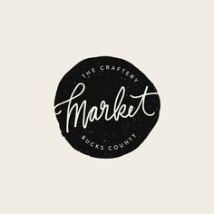 The Craftery Market Logo - Alisa Wismer Design + Illustration  #thecrafterypa #market #makers #shoplocal #branding #logodesign