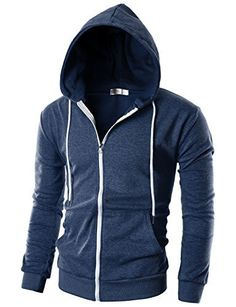 Ohoo Mens Slim Fit Long Sleeve Lightweight Zip-up Hoodie With Kanga Pocket  Ohoo is a micro brand for rational life style. we suggest only a little items after meticulous planning. We want our customers to be 100% happy with our products.      Our main products are tshirts, shirts, hoodie, coats, jackets, blazers, cardigans, sweaters, suits, chinos, jeans, pants and accessories for men and women.  Most of our items are produced to slim fit style.  Note: As different computer
