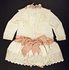 1890s Dress with pink sash