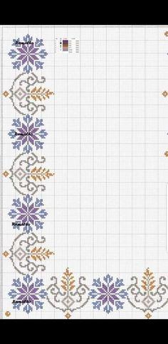 Cross Stitch Borders, Cross Stitch Patterns, Hand Embroidery Design Patterns, Pattern Design, Embroidery Art, Embroidery Stitches, Hand Embroidery, Border Tiles, Trapper Keeper