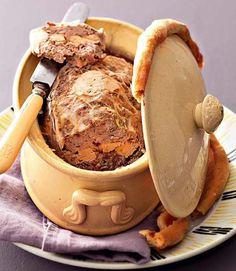 Terrine de chevreuil au foie gras Foie Gras, Charcuterie, Country Pate, Bon Appetit, Truffles, Entrees, Lamb, Peanut Butter, Buffet