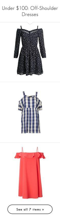 """Under $100: Off-Shoulder Dresses"" by polyvore-editorial ❤ liked on Polyvore featuring under100, offshoulderdress, Superdry, MANGO, River Island, Miss Selfridge, Topshop, Zimmermann, dresses and navy"