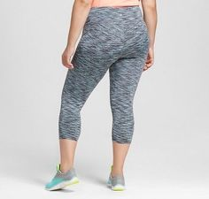 Women's Plus-Size Freedom Spacedye Capri Leggings - C9 Champion Quartz Gray 4X, Dark Gray