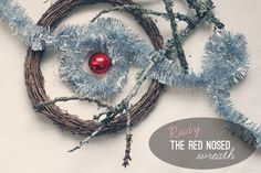 Rudy the Red Nosed Wreath thepapermama.com