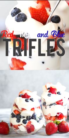 Fourth of July Memorial Day Labor Day or any Summer BBQ Red white and blue dessert of july blueberries strawberries whipped cream patriotic Patriotic Desserts, 4th Of July Desserts, Fourth Of July Food, Trifle Desserts, Köstliche Desserts, Summer Desserts, Holiday Desserts, Holiday Recipes, Delicious Desserts