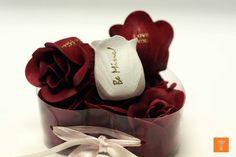 Embossed soap petals with Speaking Roses flower printer